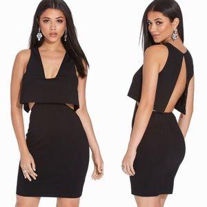 NWT AQ/AQ Eve Mini Dress Black Size 4